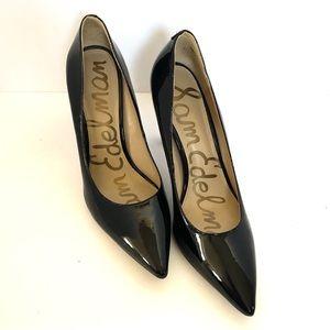 Sam Edelman Hazel Shiny Black Stilettos 7N